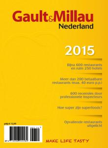 De nieuwe GaultMillau gids 2015 komt maandag 3 november uit!