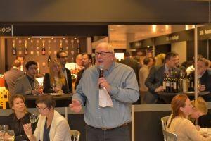 Willem Blankenstein tijdens Wine Professional