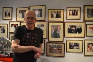Ritins voor zijn 'wall of fame'
