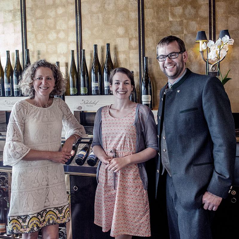 Regina Meij met Anna en Nikolaus Saahs