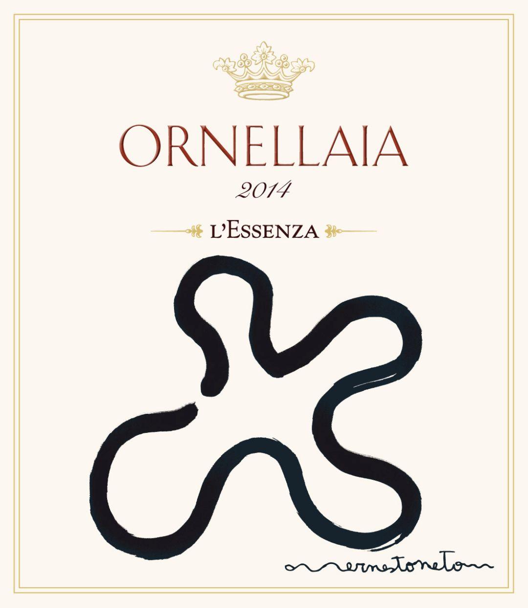 Ornellaia 2014 label