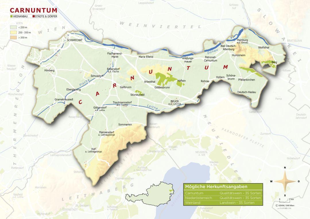 Carnuntum map