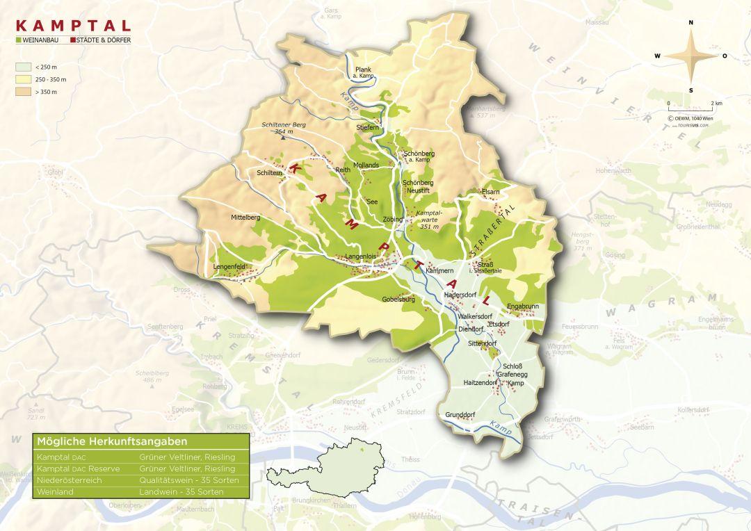 Kamptal map
