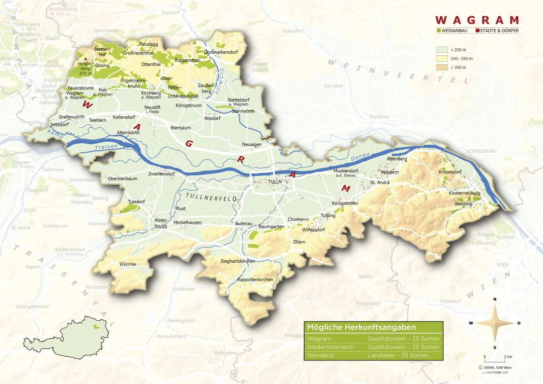 Wagram map