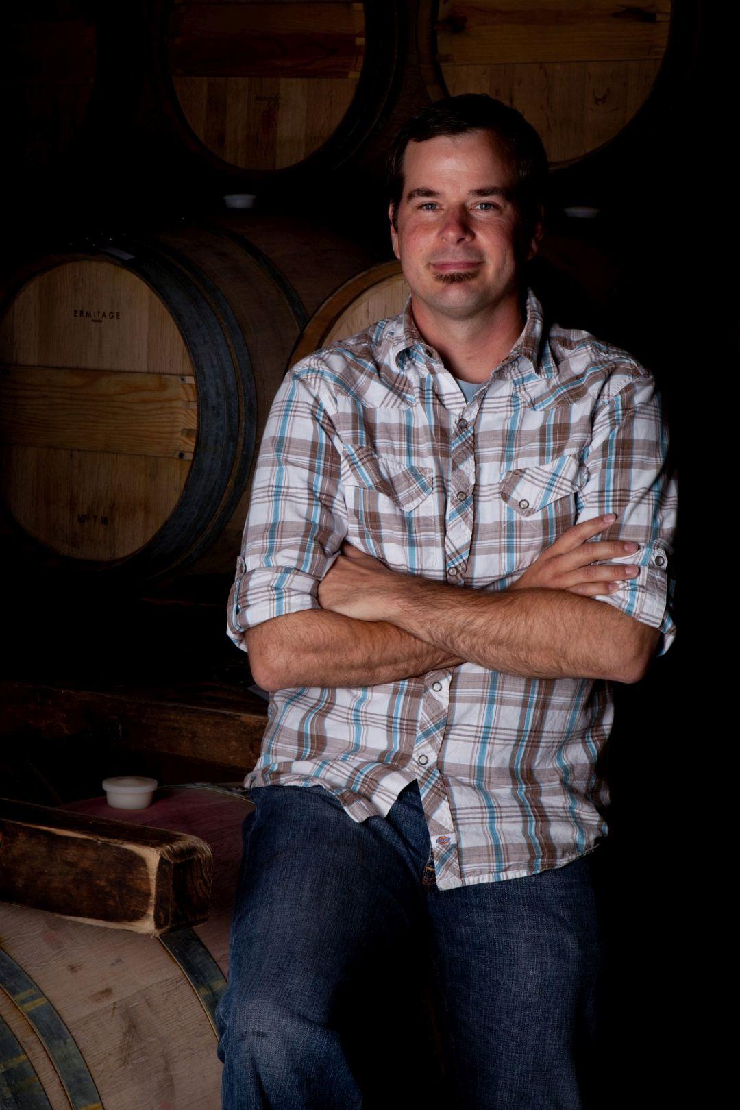 Wijnmaker Aron Weinkauf (foto Robb McDonough)