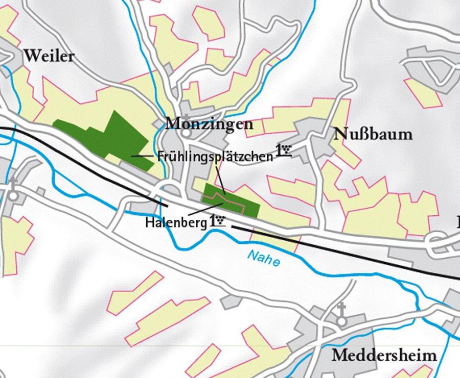 kaart Monzingen