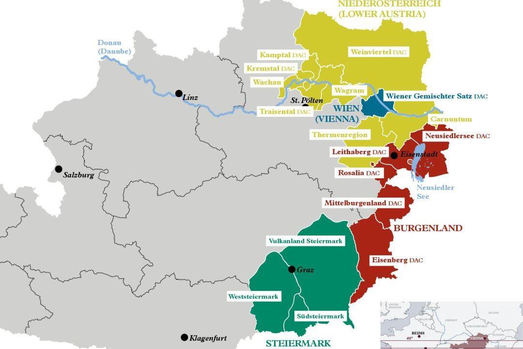 wijnregio's Oostenrijk