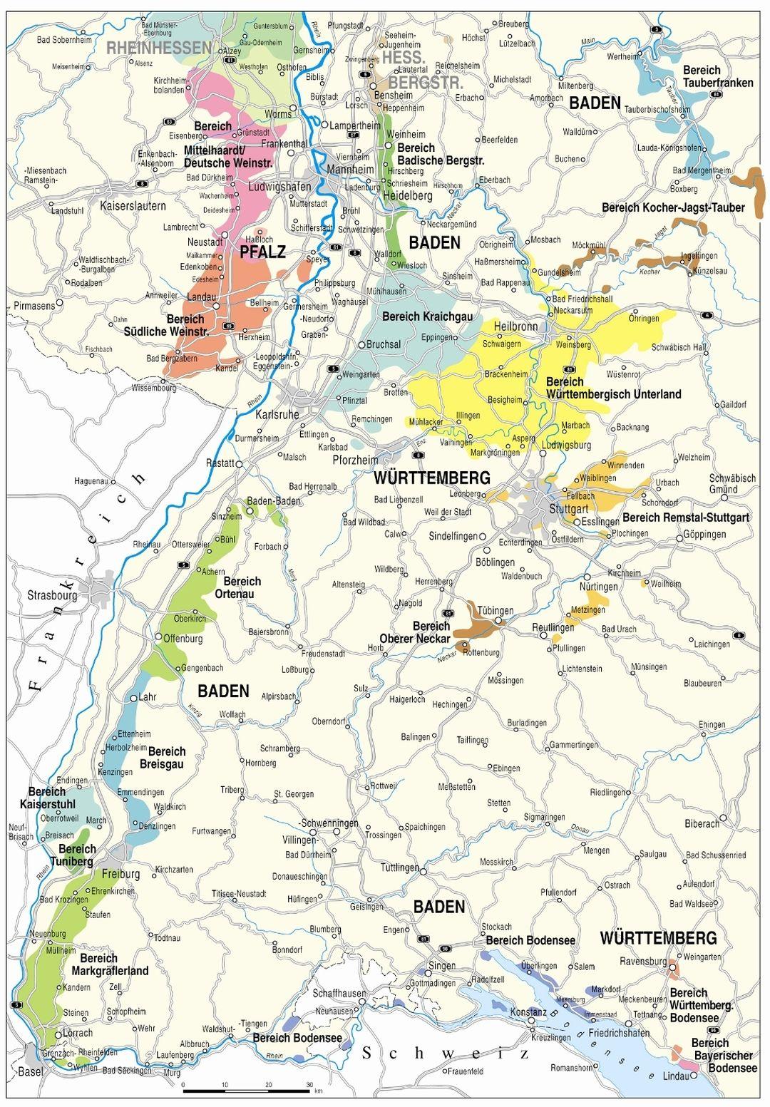 kaart Baden