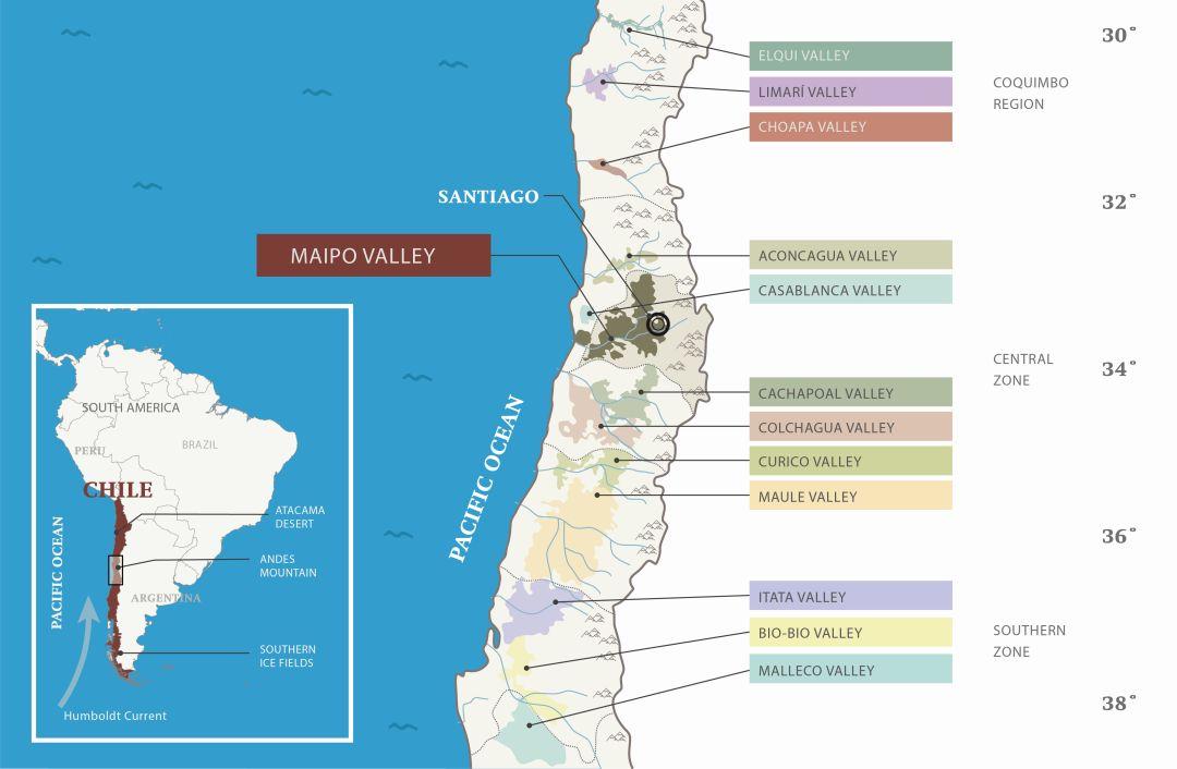 Wijngebieden Chili
