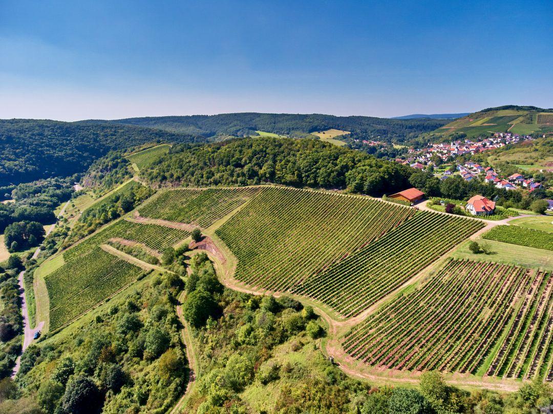 Grosses Gewächs-wijngaard Stromberg bij Bockenau