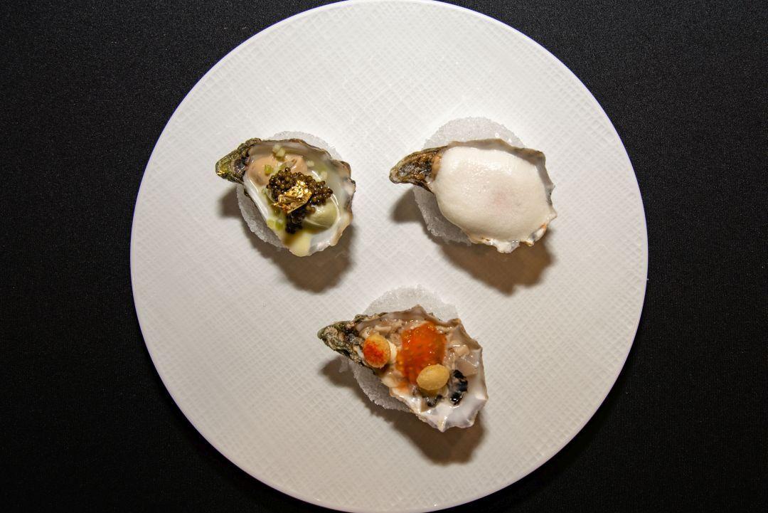 Drie verschillende bereidingen van superieur oesters