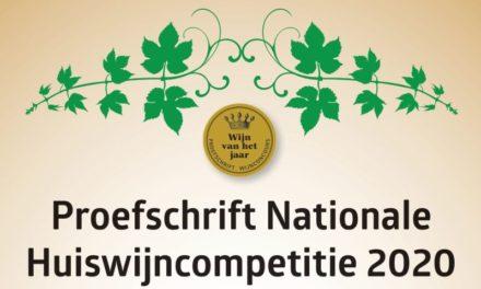 Proefschrift Nationale Huiswijncompetitie 2020: de winnaars