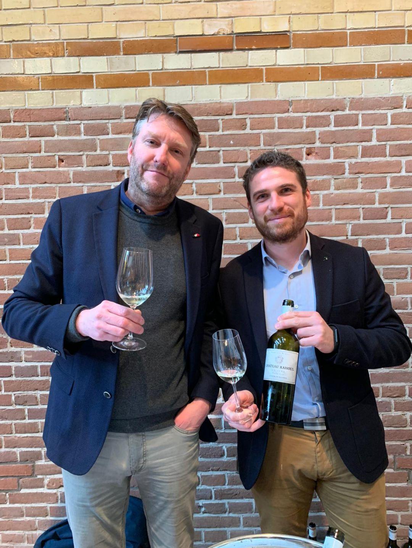 Ruben van Dam (Hosman Vins) en Benoit Lafon (Dourthe)