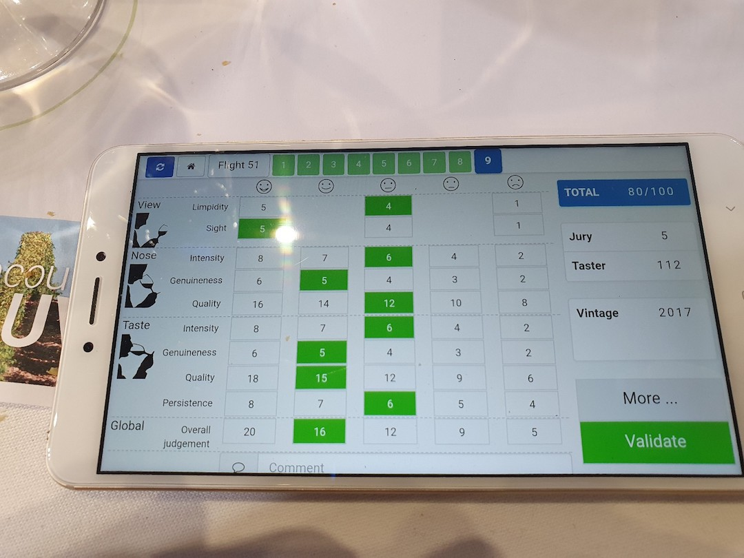 Scoretabel op de smartphone
