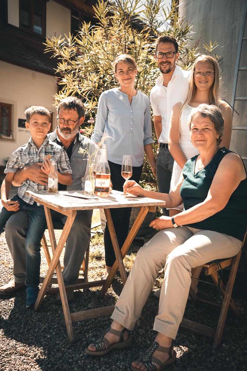 Familie Rieger, Baden