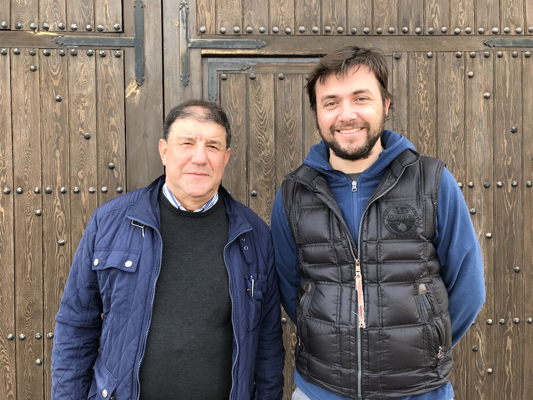 Pio del Ramo en wijnmaker Agustin Miñana