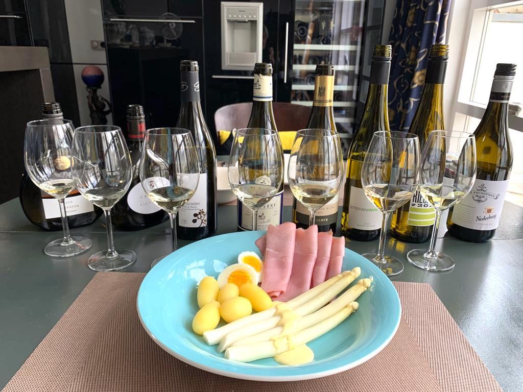 asperges met wijn