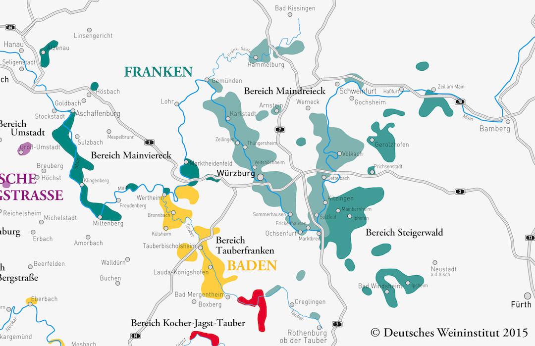 kaart Franken